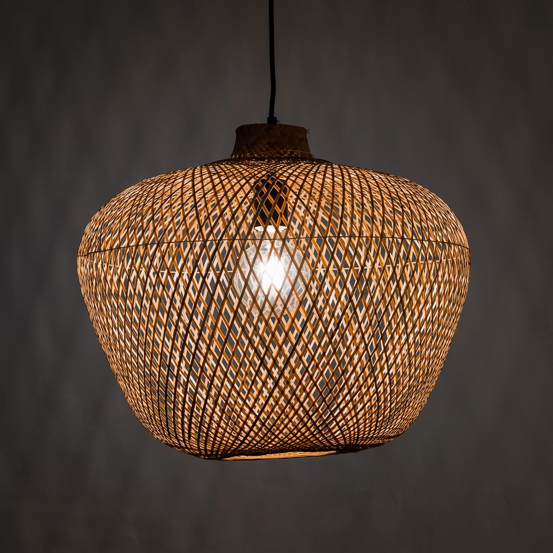 Bamboo pendant light z two lights aloadofball Images