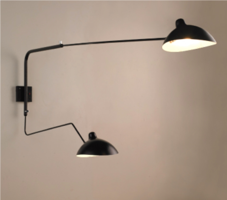 Industrial Long Reach Wall Light Z Two Lights
